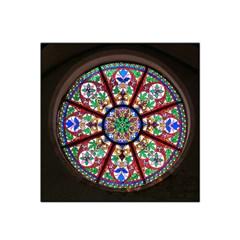 Church Window Window Rosette Satin Bandana Scarf