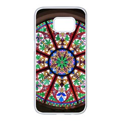 Church Window Window Rosette Samsung Galaxy S7 Edge White Seamless Case