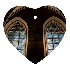 Church Window Church Ornament (heart)