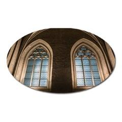 Church Window Church Oval Magnet