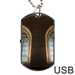 Church Window Church Dog Tag Usb Flash (one Side)