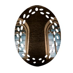 Church Window Church Ornament (oval Filigree)