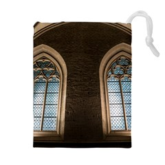 Church Window Church Drawstring Pouches (extra Large)