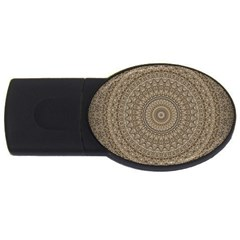 Background Mandala Usb Flash Drive Oval (2 Gb)