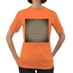 Background Mandala Women s Dark T Shirt
