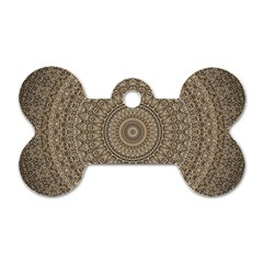 Background Mandala Dog Tag Bone (two Sides)