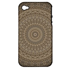 Background Mandala Apple Iphone 4/4s Hardshell Case (pc+silicone)