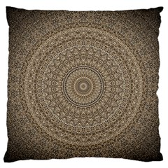 Background Mandala Large Flano Cushion Case (one Side)