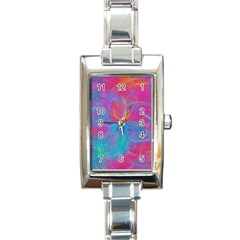Abstract Fantastic Fractal Gradient Rectangle Italian Charm Watch
