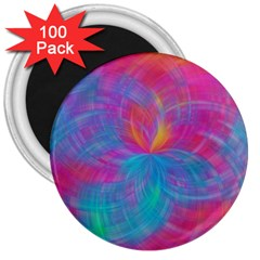 Abstract Fantastic Fractal Gradient 3  Magnets (100 Pack)