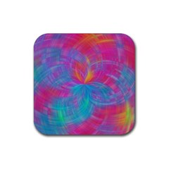 Abstract Fantastic Fractal Gradient Rubber Square Coaster (4 Pack)