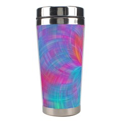 Abstract Fantastic Fractal Gradient Stainless Steel Travel Tumblers by BangZart