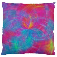 Abstract Fantastic Fractal Gradient Large Flano Cushion Case (one Side)