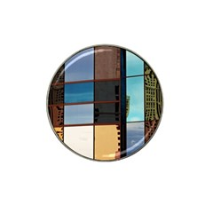 Glass Facade Colorful Architecture Hat Clip Ball Marker (4 Pack) by BangZart