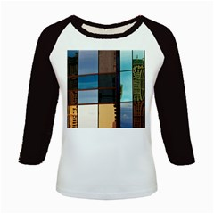 Glass Facade Colorful Architecture Kids Baseball Jerseys