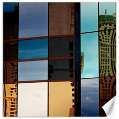 Glass Facade Colorful Architecture Canvas 16  X 16