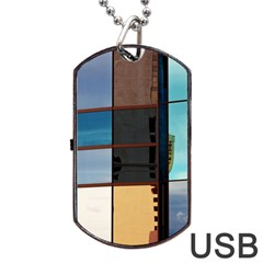 Glass Facade Colorful Architecture Dog Tag Usb Flash (two Sides) by BangZart