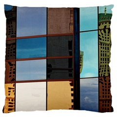 Glass Facade Colorful Architecture Large Cushion Case (two Sides)