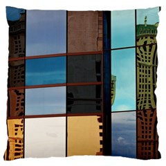 Glass Facade Colorful Architecture Standard Flano Cushion Case (one Side)