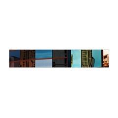 Glass Facade Colorful Architecture Flano Scarf (mini) by BangZart