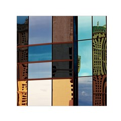 Glass Facade Colorful Architecture Small Satin Scarf (square)