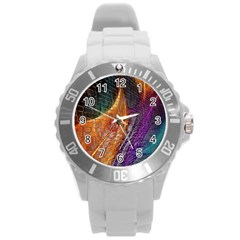 Graphics Imagination The Background Round Plastic Sport Watch (l)