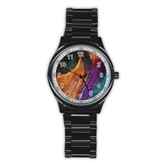 Graphics Imagination The Background Stainless Steel Round Watch