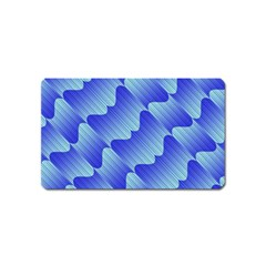 Gradient Blue Pinstripes Lines Magnet (name Card)