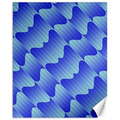 Gradient Blue Pinstripes Lines Canvas 16  X 20