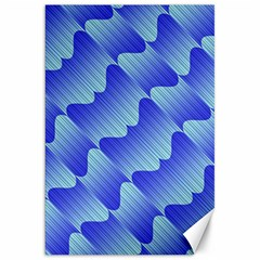 Gradient Blue Pinstripes Lines Canvas 20  X 30