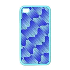 Gradient Blue Pinstripes Lines Apple Iphone 4 Case (color)