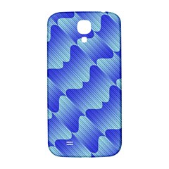 Gradient Blue Pinstripes Lines Samsung Galaxy S4 I9500/i9505  Hardshell Back Case