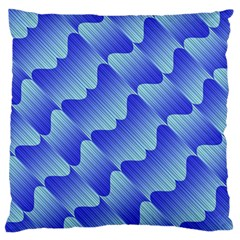 Gradient Blue Pinstripes Lines Standard Flano Cushion Case (two Sides)