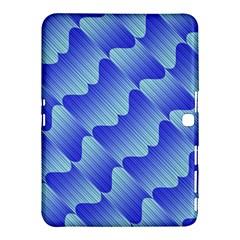 Gradient Blue Pinstripes Lines Samsung Galaxy Tab 4 (10 1 ) Hardshell Case