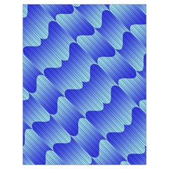 Gradient Blue Pinstripes Lines Drawstring Bag (large) by BangZart