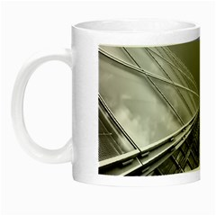 Architecture Skyscraper Night Luminous Mugs