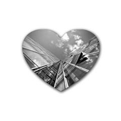 Architecture Skyscraper Rubber Coaster (heart)
