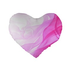 Material Ink Artistic Conception Standard 16  Premium Heart Shape Cushions