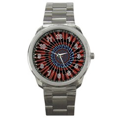 The Fourth Dimension Fractal Noise Sport Metal Watch