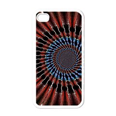 The Fourth Dimension Fractal Noise Apple Iphone 4 Case (white)