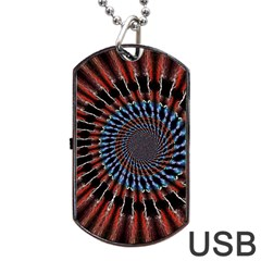 The Fourth Dimension Fractal Noise Dog Tag Usb Flash (one Side)