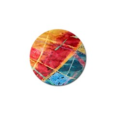 Painting Watercolor Wax Stains Red Golf Ball Marker (4 Pack)