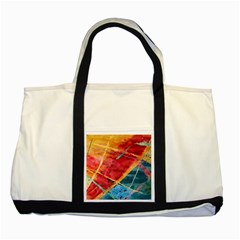Painting Watercolor Wax Stains Red Two Tone Tote Bag