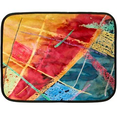 Painting Watercolor Wax Stains Red Double Sided Fleece Blanket (mini)