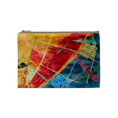Painting Watercolor Wax Stains Red Cosmetic Bag (medium)