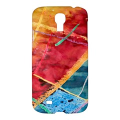 Painting Watercolor Wax Stains Red Samsung Galaxy S4 I9500/i9505 Hardshell Case