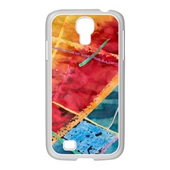 Painting Watercolor Wax Stains Red Samsung Galaxy S4 I9500/ I9505 Case (white) by BangZart