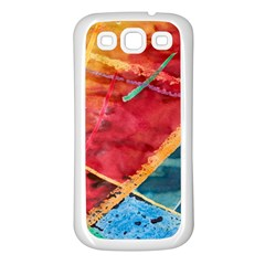 Painting Watercolor Wax Stains Red Samsung Galaxy S3 Back Case (white)