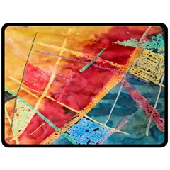 Painting Watercolor Wax Stains Red Double Sided Fleece Blanket (large)  by BangZart