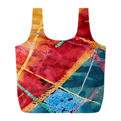Painting Watercolor Wax Stains Red Full Print Recycle Bags (l)  by BangZart
